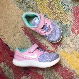 Little Girl's Nike Pastel Velcro Tennis Shoes